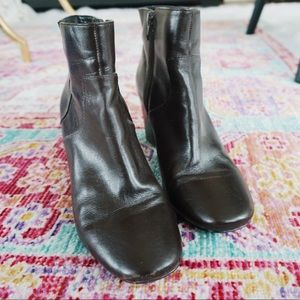 Nine West Brown Leather Booties
